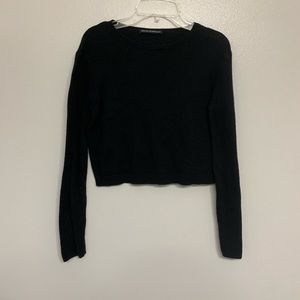Brandy Melville long sleeve black crop top
